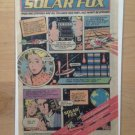 SOLAR FOX (CBS Electronics) ATARI 2600 Original Trimmed Paper Advertisement 1983