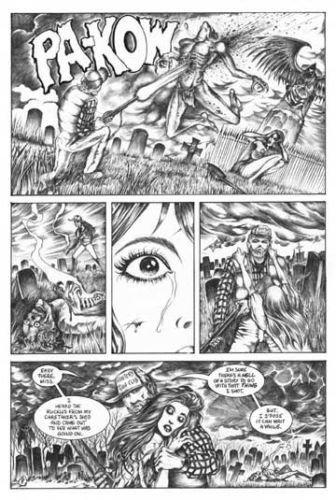 Don Paresi's Zombie Horror comic SEPULCHER #2 Walking Dead ORIGINAL ART Pg. 8~!