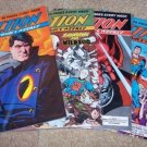 ACTION COMICS DC Superman in 603, 604, 605, 606 All NM+Free Signed Trading card!