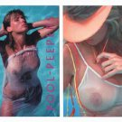 Knockout Amateur POOLPEEPERS Card Set SEXY Wet See-Thru Busty TOPLESS Pool Nude