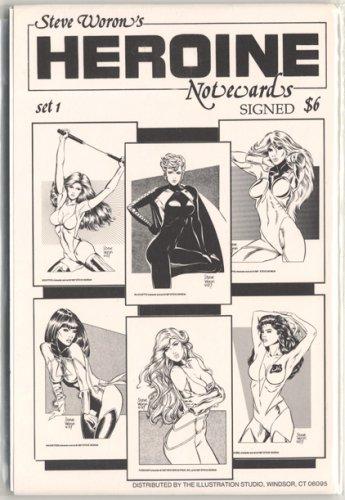 Steve Woron's SIGNED sexy Heroine NoteCard set #1 of 3!