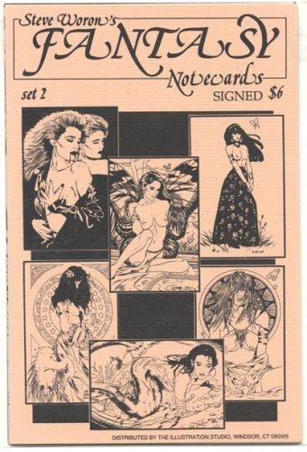 Steve Woron's SIGNED sexy Fantasy NoteCard set #2 of 3!