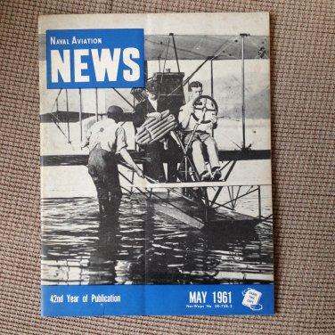 MAY 1961 NAVAL AVIATION NEWS Magazine~ CVA-64, R4D, ELTO Course, MAG-16,X Craft