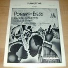 Porgy & Bess SUMMERTIME Gershwin piano sheet music