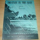 Fountain in the Rain -piano solo by William Gillock sheet music 1940