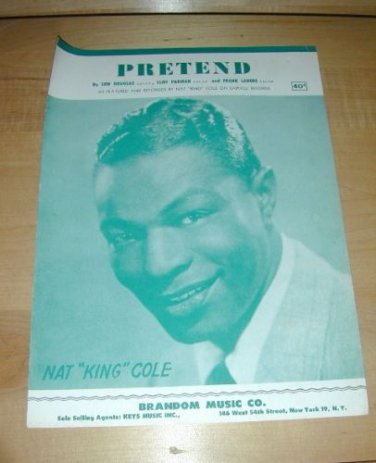 PRETEND (Nat King Cole) piano sheet music 1952