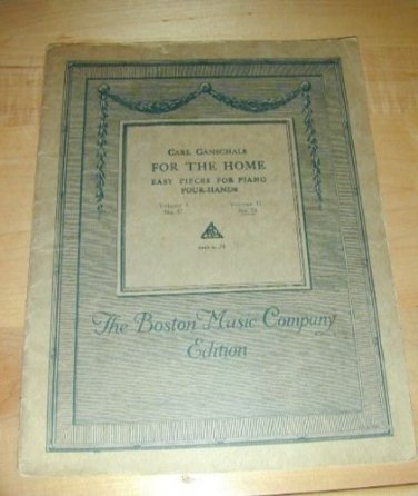 Vintage 1914~FOR THE HOME~Easy Pieces for Piano 4-Hands