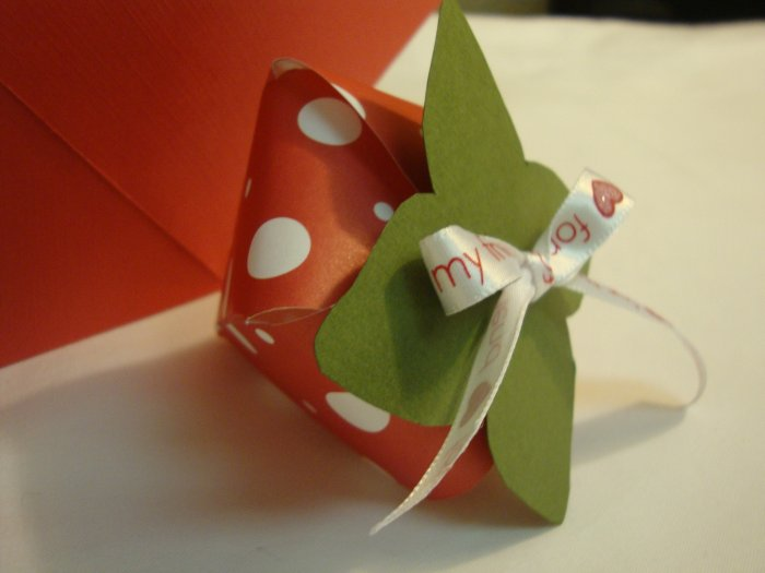 Strawberry delight favor boxes