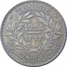 Tunisia 1924 2 Francs