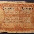 RARE.  1939-41 Sheehan/McFarlane Ten Shillings Note