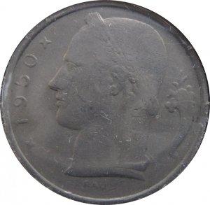 1950 Belguim 5 Franc