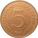 1983 Yugoslavia 5 Dinara