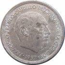 1957 Spain 5 Pesetas #73