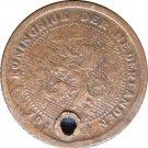 191? Netherland 1/2 Cent Holed  : (