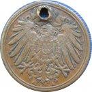 1911 A Germany 1 Pfennig HOLED