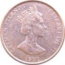 1992 Cayman Islands 1 Cent