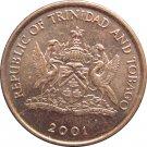 2001 Trinidad 1 Cent