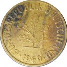 1969 D Germany 10 Pfennig #1