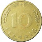1949 D Germany 10 Pfennig