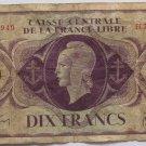 1941 France  Dix Francs