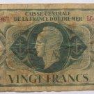1944 France  VINGT 20 Francs