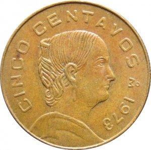 1973 Mexico 5 Centavos