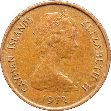 1972 Cayman Islands 1 Cent #1