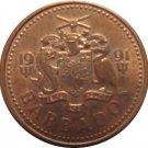 1991 Barbados 1 Cent