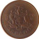 1990 Barbados 1 Cent