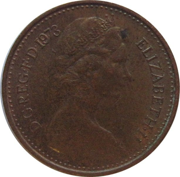 1973 Great Britain New Half Penny