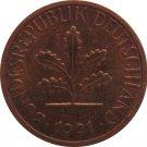 1991 D Germany 1 Pfennig