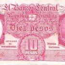 ARGENTINA 10 PESOS L. 1935 265b (34.454.529)