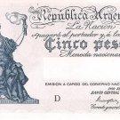 ARGENTINA - 5 Pesos.  ND 1935  252c 96.277.326