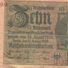 Germany P 180a Ro 173a 10 Reichsmark 1929