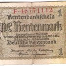 Germany 1 Rentenmark 112