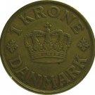 1938 Denmark 1 Kroner  low mintage 407,000