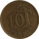 1969 Finland 10 Pennia