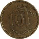1966 Finland 10 Pennia