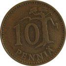 1965 Finland 10 Pennia