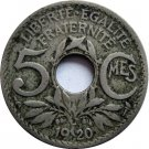 1920 France 5 Centimes