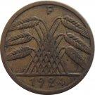1924 F Germany 5 REICHSPFENNIG
