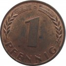 1950 D Germany 1 Pfennig