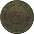 1950 D Germany 5 Pfennig #2