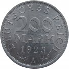1923 A Germany 200 Duetschereich Mark