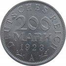 1923 A Germany 200 Duetschereich Mark