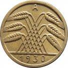 1930 A Germany 5 REICHSPFENNIG