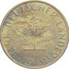 1949 D Germany 10 Pfennig