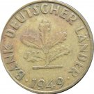 1949 G Germany 10 Pfennig #3