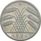 1924 F Germany 10 RENTENPFENNIG