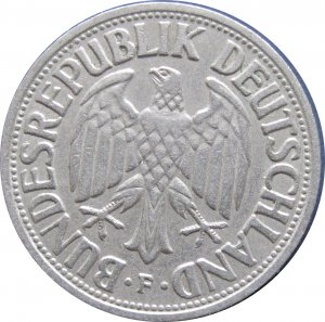 1950 F Germany 1 Mark